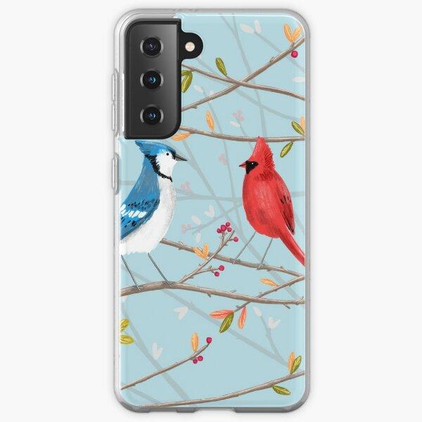 Blue Jay & Red Cardinal Samsung Galaxy Soft Case