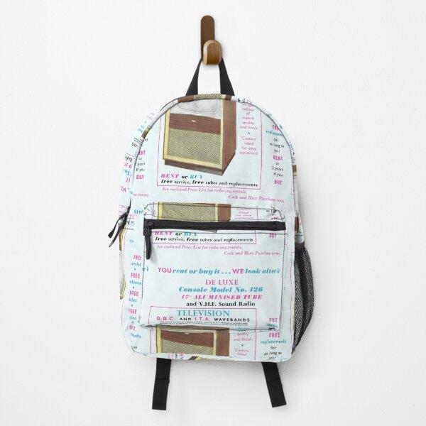 TELEVISION RENTAL ADVERT Backpack