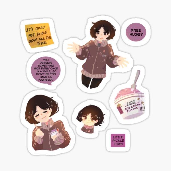 Violet Girl Io Sticker Pack Sticker
