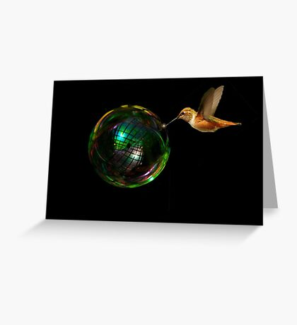 HUMMINGBIRD TWINKEL~ Greeting Card