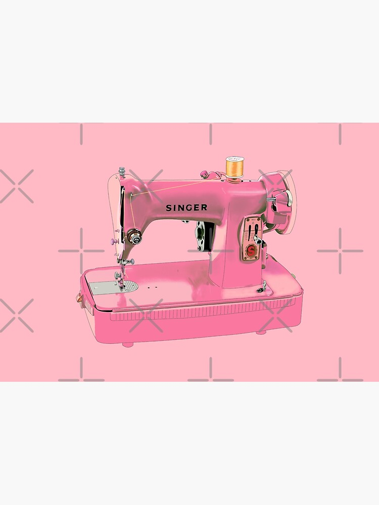 The pink Singer sewing machine by MimieTrouvetou