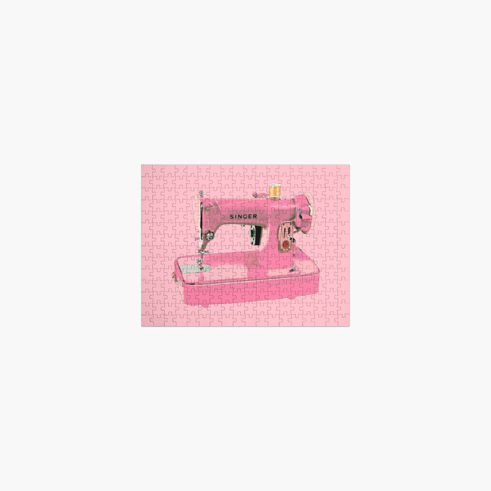 The pink Singer sewing machine Jigsaw Puzzle