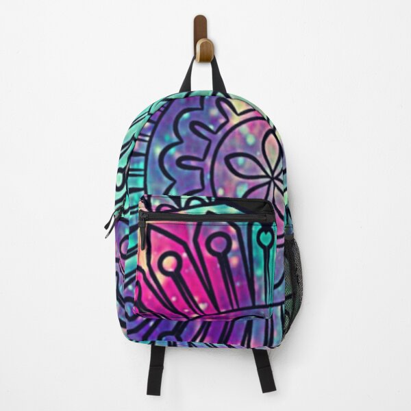 Zentangle inspired art|heart design| Backpack