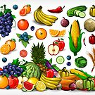 Fruits and Vegetables. by davidgoh
