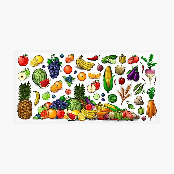 Fruits and Vegetables. Photographic Print
