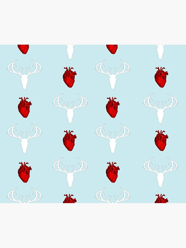 Hannibal Stag&Hearts Pattern by knoperee