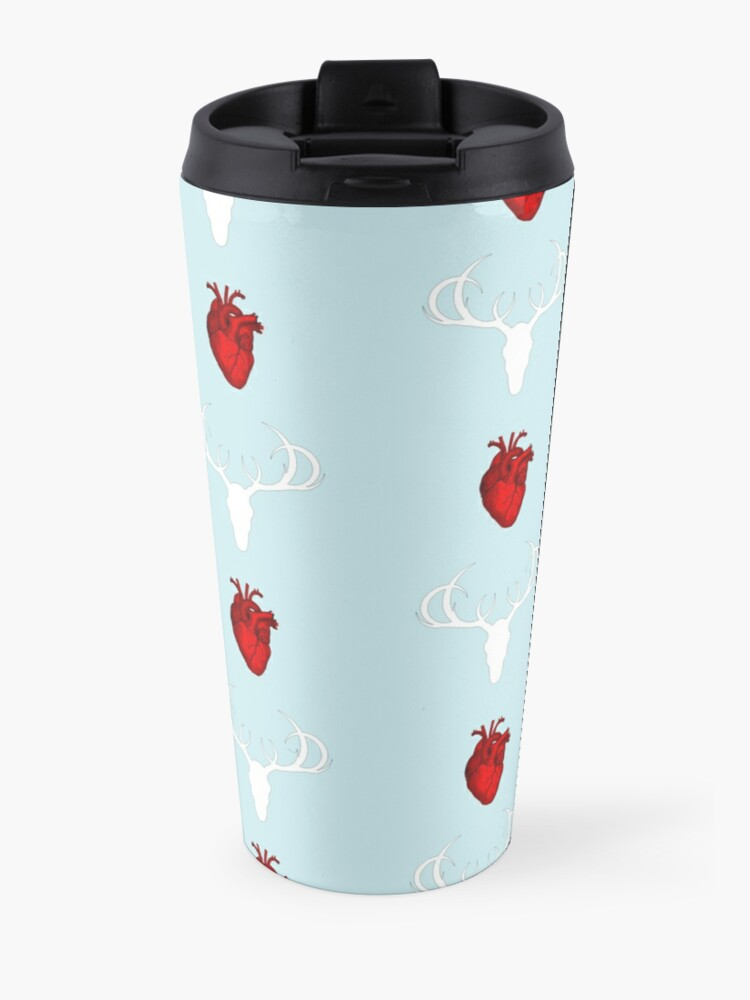 Alternate view of Hannibal Stag&Hearts Pattern Travel Mug