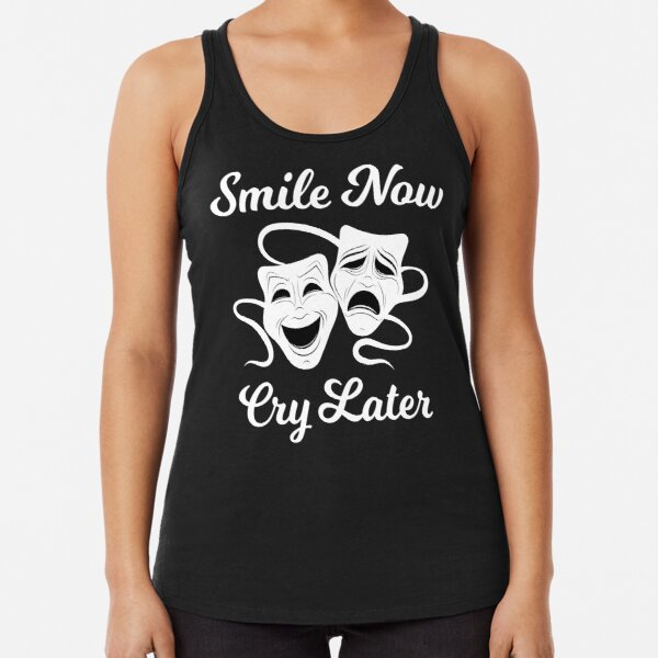 Smile Now Cry Later - Chicano Style Racerback Tank Top