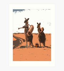 AUSSIE HIKERS Art Print