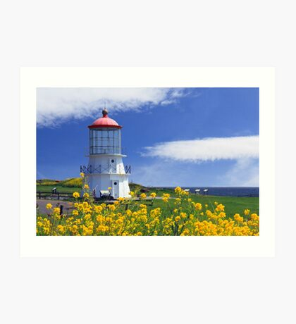Springtime Lighthouse Art Print