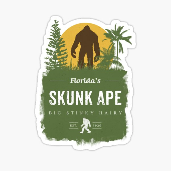 Florida's Skunk Ape Sticker