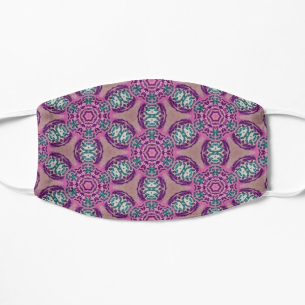 African Flower Motif Purple Flat Mask