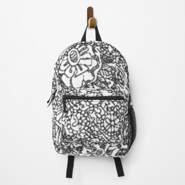 Zentangle inspired art|mandala design| Backpack