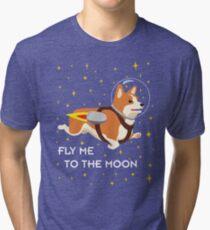 Rocket Corgi Tri-blend T-Shirt