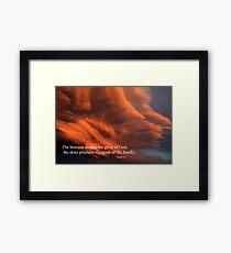 Psalm 19:1 Framed Print