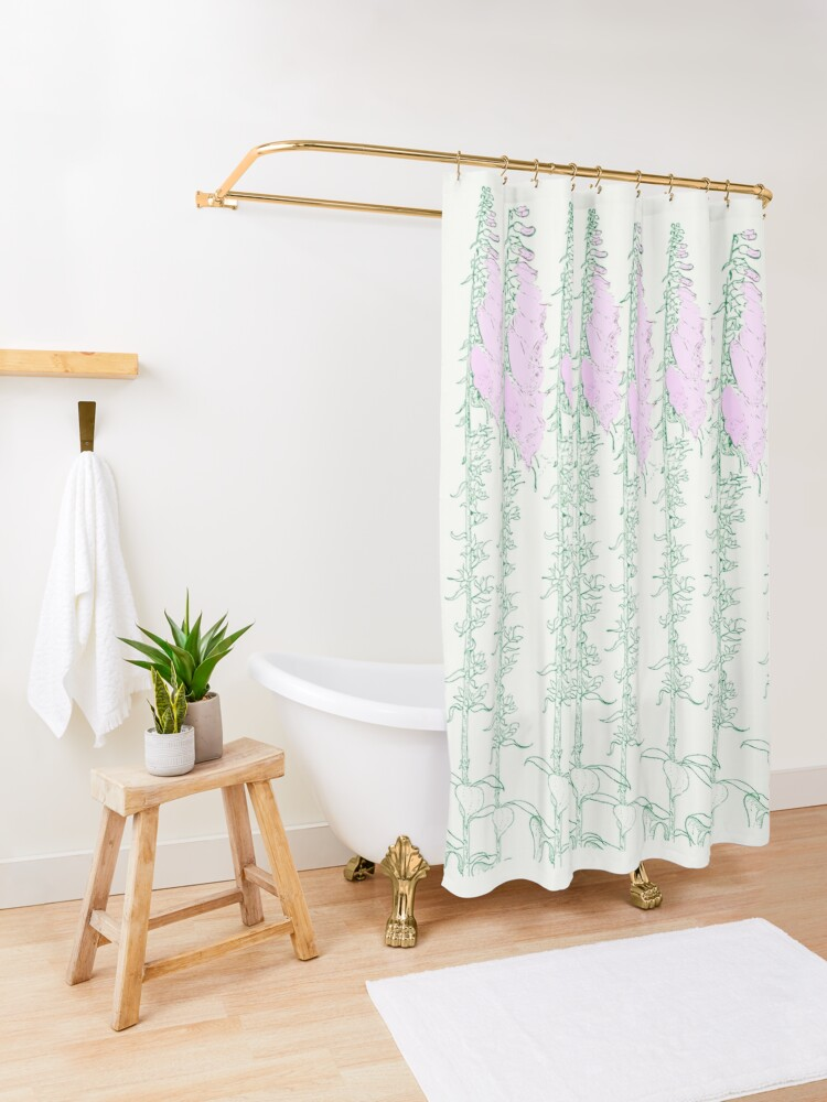 Alternate view of Come in to the Garden Shower Curtain