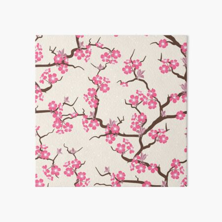 Sakura Flowers Art Board Print