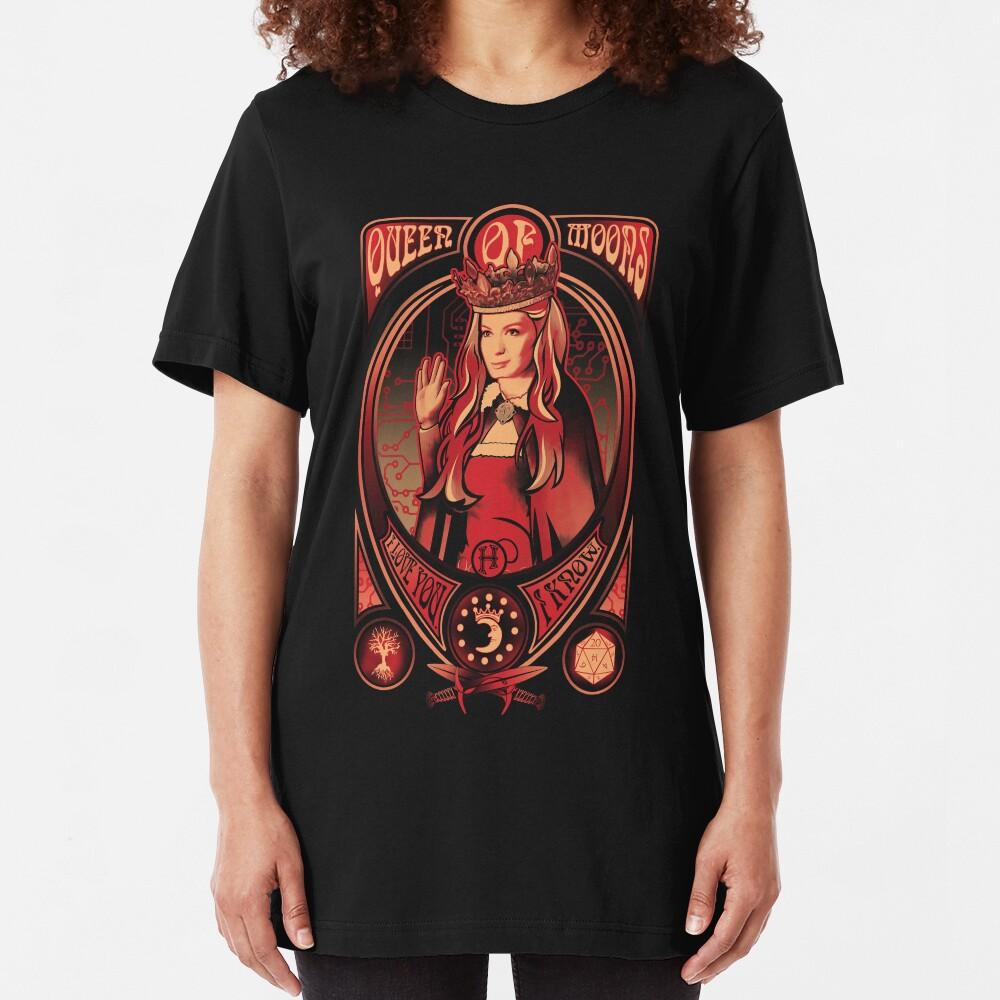 Queen of Moons Slim Fit T-Shirt