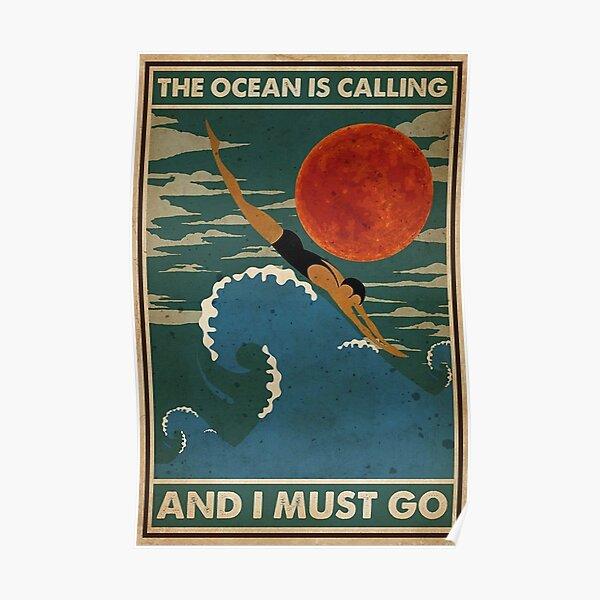 the ocean calling  Poster