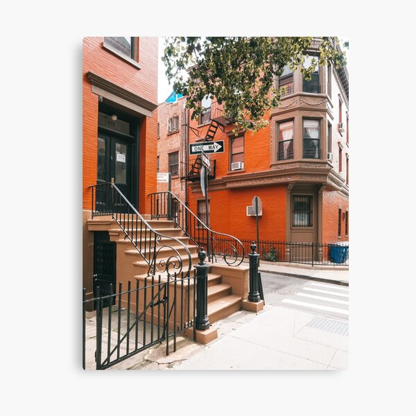 Street corner in Brooklyn Heights Canvas Print