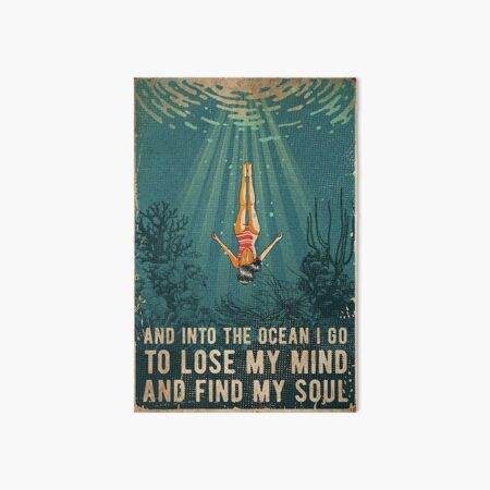 into the ocean  Art Board Print