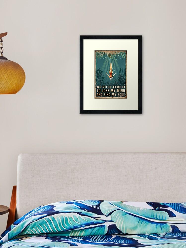 Into The Ocean Framed Art Print By Jessesmeaton Redbubble