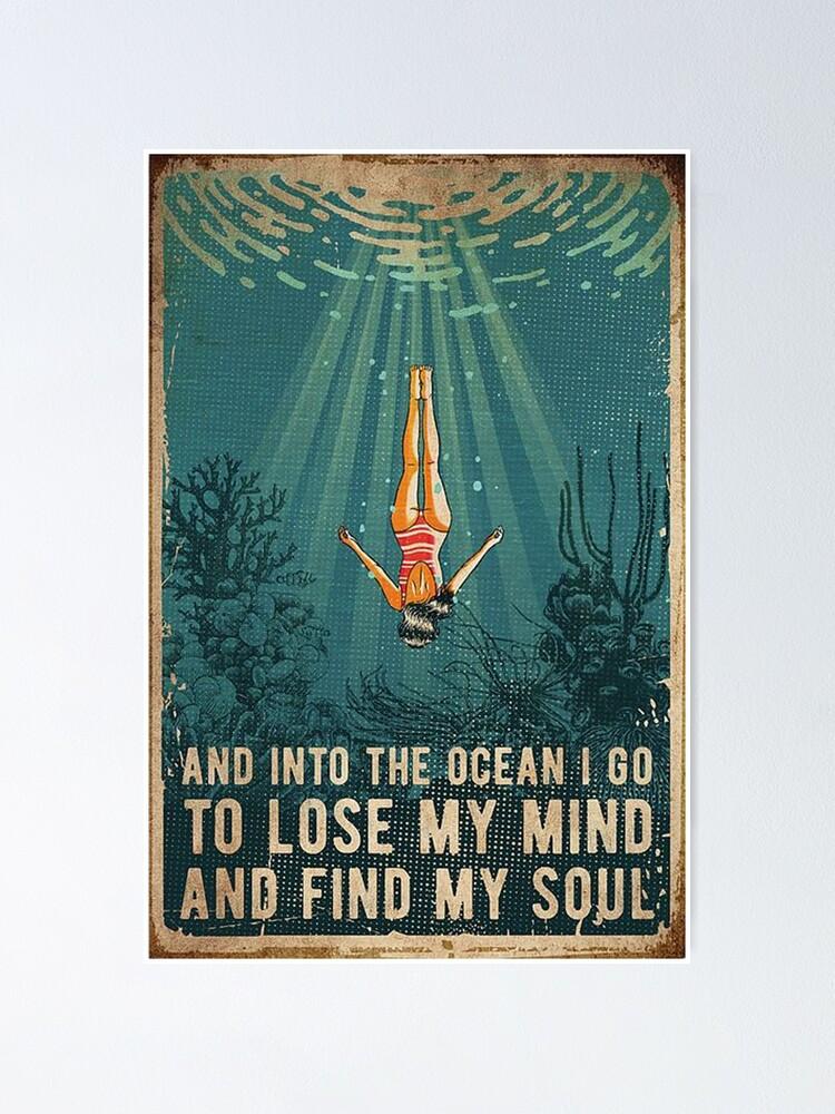 Alternative Ansicht von in den Ozean Poster