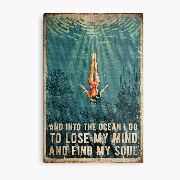 into the ocean  Metal Print