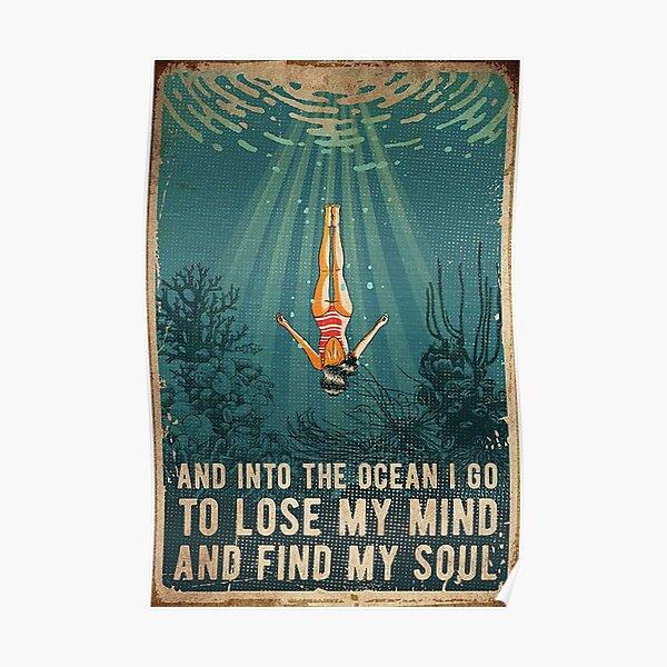 dans l'océan Poster