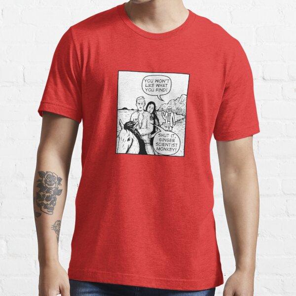 Ginger Scientist Monkey Essential T-Shirt