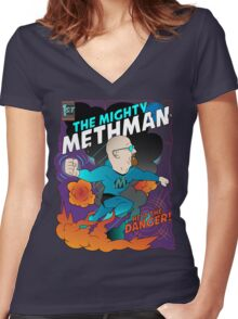The Mighty Methman! Women's Fitted V-Neck T-Shirt