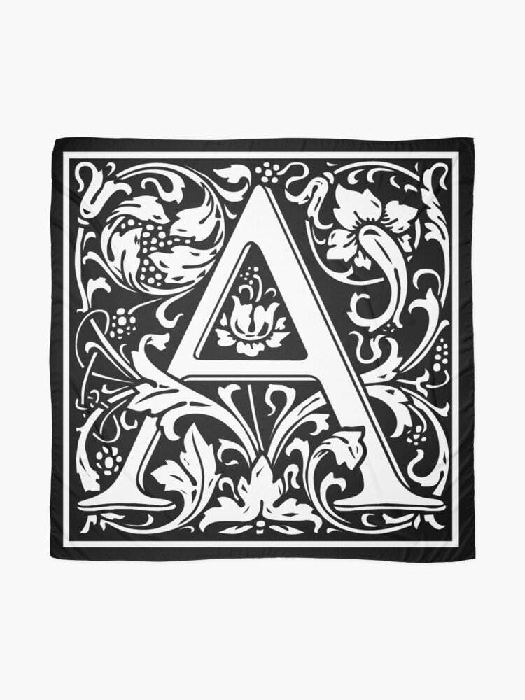 A Arts And Crafts Movement Alphabet Letter Alpha Adam Aaron 1st Letter Of Alphabet Initial Name Letters Tag Nick Name Scarf By Tomsredbubble Redbubble