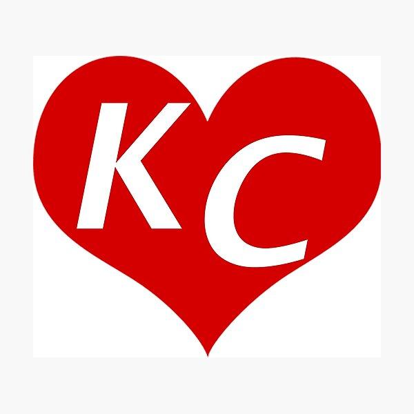 LOVE KC HEART - LOVE KANSAS CITY HEART Photographic Print