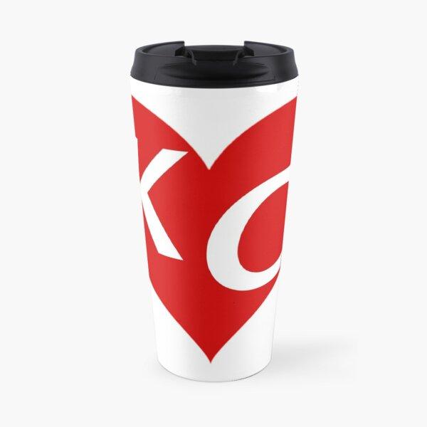 LOVE KC HEART - LOVE KANSAS CITY HEART Travel Mug