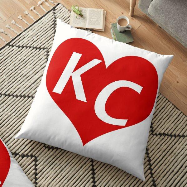 LOVE KC HEART - LOVE KANSAS CITY HEART Floor Pillow