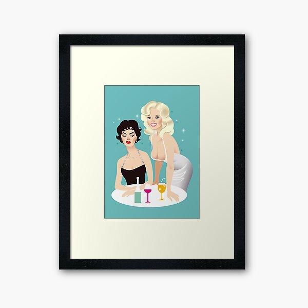 Sophia vs Jayne Framed Art Print