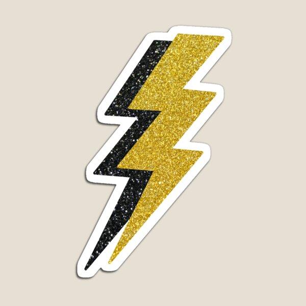 gold and black glitter lightning Magnet