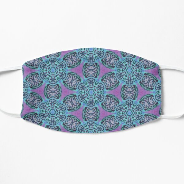 African Flower - Azure and Purple Flat Mask