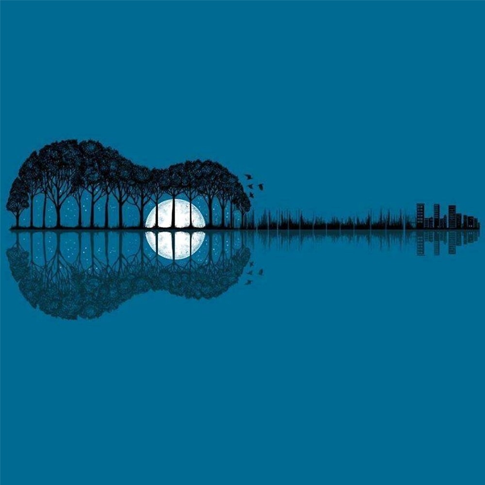 Image result for moon as a guitar