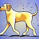 Yellow Lab Shedding Dog Hair Blue by offleashart