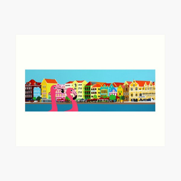 Caribbean town Art Print