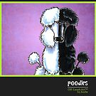 Poodle Calendar Cover by offleashart