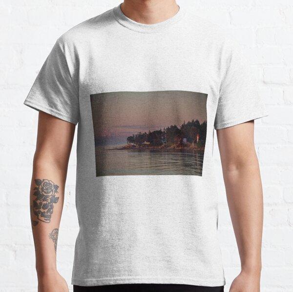 Mayne island and Mt.Baker at twilight Classic T-Shirt