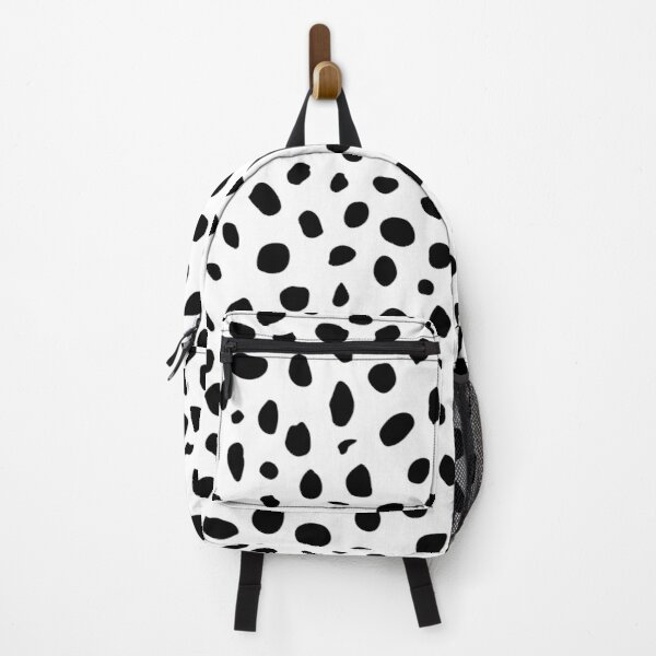 Black and White Seamless Cheetah Spots Backpack