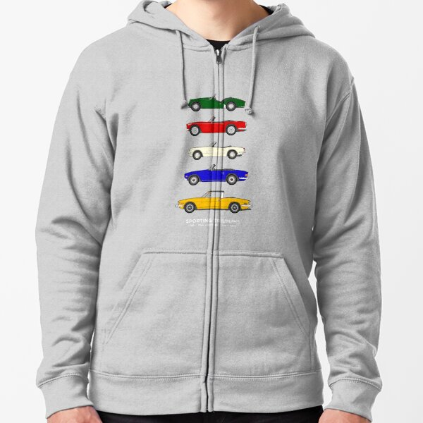 Sporting Triumphs (Triumph Sports cars) Classic Car Collection Zipped Hoodie