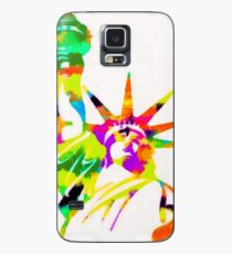 Statue Of Liberty Colorful Abstract Case/Skin for Samsung Galaxy