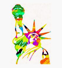 Statue Of Liberty Colorful Abstract Photographic Print