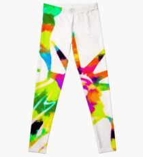 Statue Of Liberty Colorful Abstract Leggings