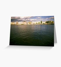 Bank of the river Spree, Berlin 2012 Greeting Card
