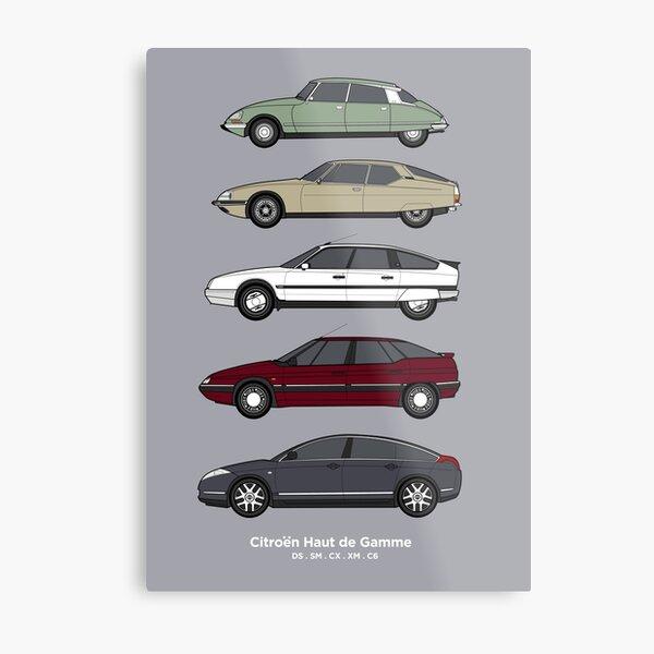 Citroen Haute de Gamme Classic Car Collection (vr2) Metal Print